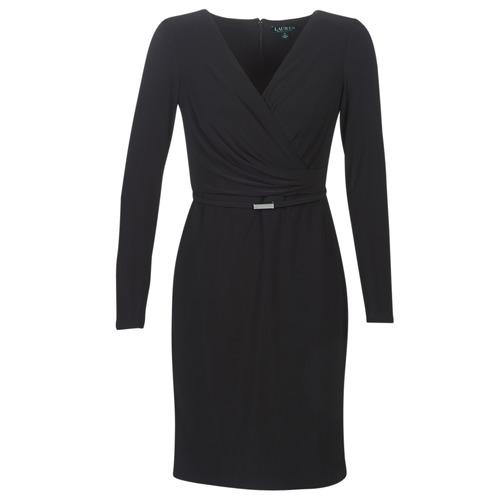 Odjeća Žene  Kratke haljine Lauren Ralph Lauren ALEXIE Crna