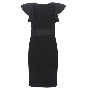 Odjeća Žene  Kratke haljine Lauren Ralph Lauren JERSEY SLEEVELESS COCKTAIL DRESS Crna