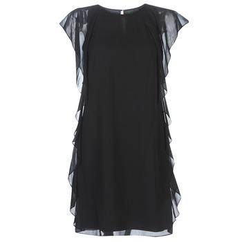 Odjeća Žene  Kratke haljine Lauren Ralph Lauren RUFFLED GEORGETTE DRESS Crna