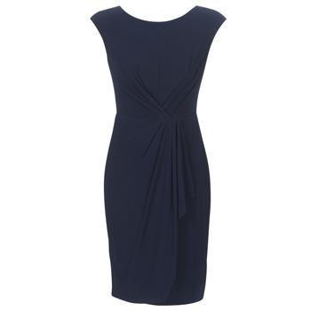 Odjeća Žene  Kratke haljine Lauren Ralph Lauren RUCHED CAP SLEEVE DRESS Blue