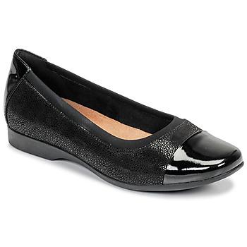 Obuća Žene  Balerinke i Mary Jane cipele Clarks UN DARCEY CAP Crna