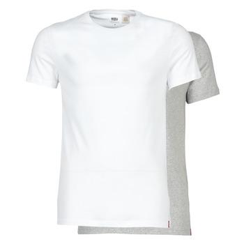 Odjeća Muškarci  Majice kratkih rukava Levi's SLIM 2PK CREWNECK 1 Bijela / Siva