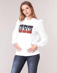 Odjeća Žene  Sportske majice Levi's GRAPHIC SPORT HOODIE Bijela