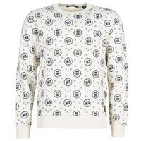 Odjeća Muškarci  Sportske majice Scotch & Soda CREWNECK SWEAT WITH LOGO ALL-OVER PRINT Bijela