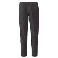 Odjeća Žene  Hlače s pet džepova Maison Scotch TAPERED LUREX PANTS WITH VELVET SIDE PANEL Siva