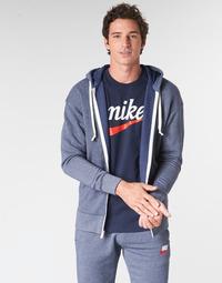Odjeća Muškarci  Sportske majice Nike M NSW HERITAGE HOODIE FZ Blue