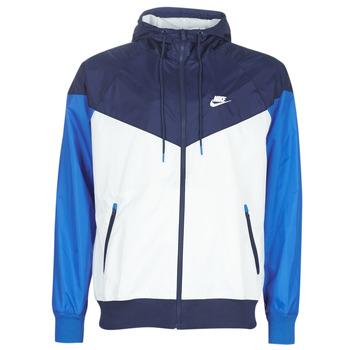 Odjeća Muškarci  Vjetrovke Nike M NSW HE WR JKT HD Blue / Bijela