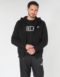 Odjeća Muškarci  Sportske majice Nike M NSW CLUB HOODIE FZ BB Crna