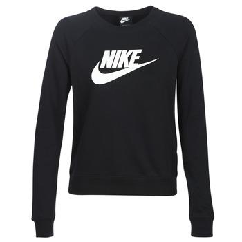Odjeća Žene  Sportske majice Nike W NSW ESSNTL CREW FLC HBR Crna