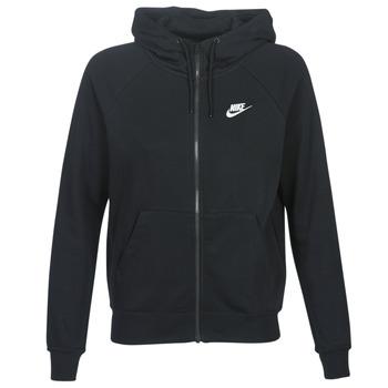 Odjeća Žene  Sportske majice Nike W NSW ESSNTL HOODIE FZ FLC Crna
