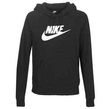 Odjeća Žene  Sportske majice Nike W NSW ESSNTL HOODIE PO  HBR Crna