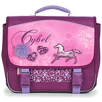 Torbe Djevojčica Školske torbe Rentrée des classes CYBEL CARTABLE 38 CM Ružičasta