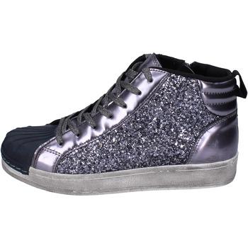 Obuća Djevojčica Visoke tenisice Holalà sneakers glitter vernice Grigio