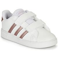 Obuća Djevojčica Niske tenisice adidas Originals GRAND COURT I Bijela