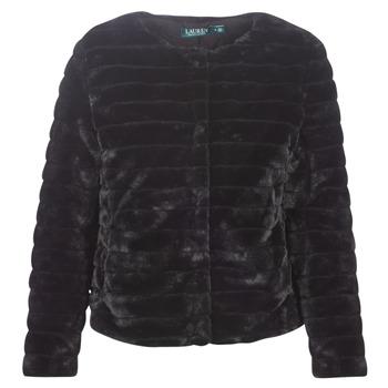 Odjeća Žene  Kaputi Lauren Ralph Lauren FAUX CHUBBY Crna