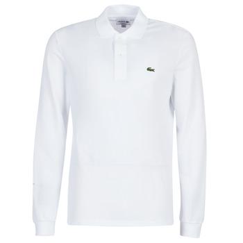 Odjeća Muškarci  Polo majice dugih rukava Lacoste L1312 Bijela