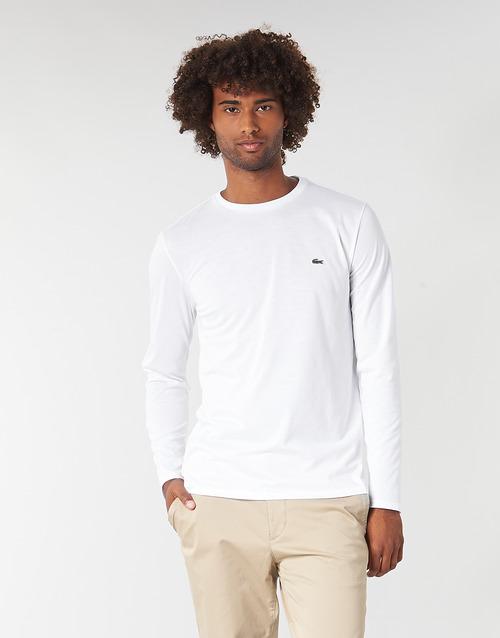 Odjeća Muškarci  Majice dugih rukava Lacoste TH6712 Bijela