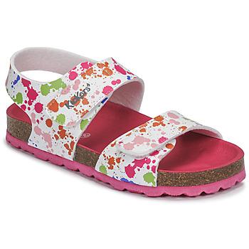 Obuća Djevojčica Sandale i polusandale Kickers SUMMERKRO Bijela / Multicolour