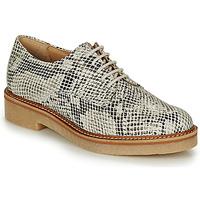 Obuća Žene  Derby cipele Kickers OXFORK Bijela / Crna / Python