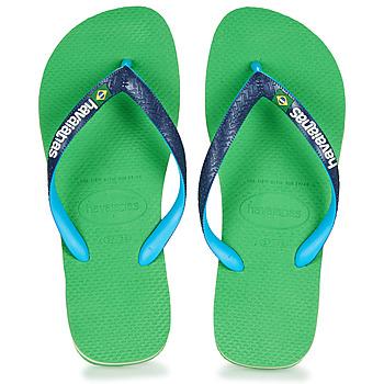 Obuća Japanke Havaianas BRASIL MIX Zelena / Blue