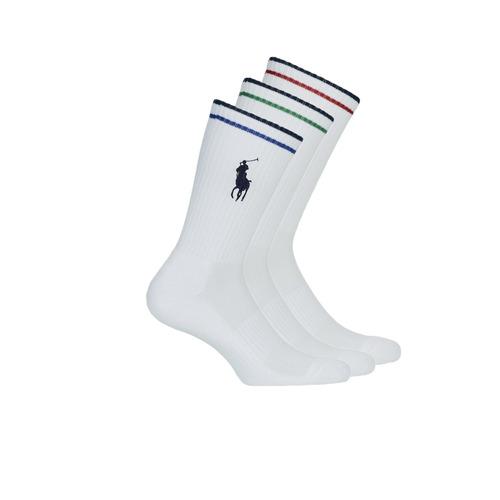 Tekstilni dodaci Muškarci  Čarape Polo Ralph Lauren 3PK BPP-SOCKS-3 PACK Bijela