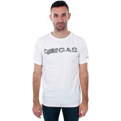 Odjeća Muškarci  Majice kratkih rukava Gas GATS01 JUNGLE T-SHIRT AB30 WHITE JUNGLE Blanco