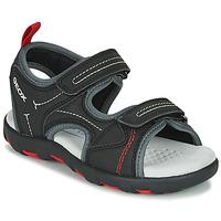 Obuća Dječak  Sportske sandale Geox JR SANDAL PIANETA Crna / Red