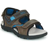 Obuća Dječak  Sportske sandale Geox JR SANDAL STRADA Smeđa / Blue