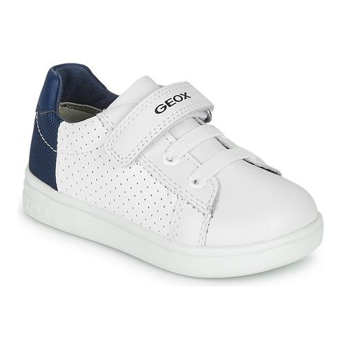 Obuća Dječak  Niske tenisice Geox B DJROCK BOY Bijela / Blue