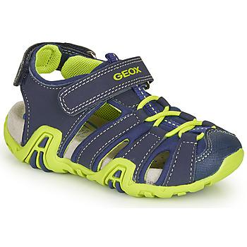 Obuća Dječak  Sportske sandale Geox B SANDAL KRAZE Zelena