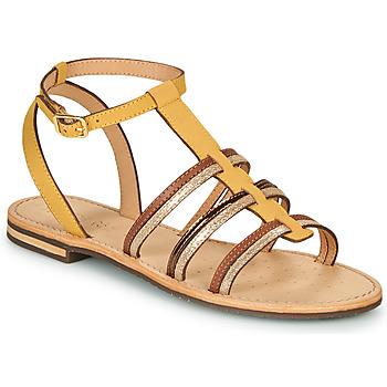 Obuća Žene  Sandale i polusandale Geox D SOZY Žuta / Smeđa / Gold