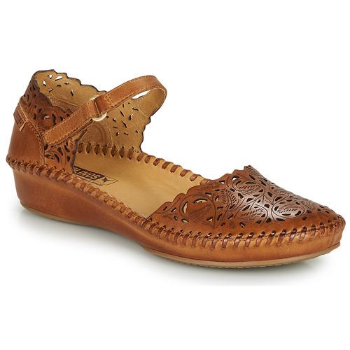 Obuća Žene  Balerinke i Mary Jane cipele Pikolinos P. VALLARTA 655 Boja konjaka