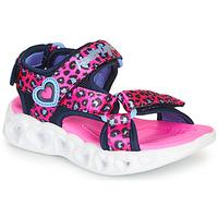 Obuća Djevojčica Sportske sandale Skechers HEART LIGHTS Ružičasta / Crna