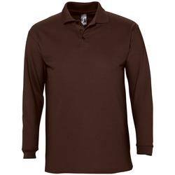Odjeća Muškarci  Polo majice dugih rukava Sols WINTER 2 CASUAL MEN Marrón