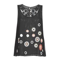 Odjeća Žene  Majice s naramenicama i majice bez rukava Desigual TEBAS Crna