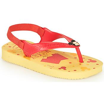 Obuća Dječak  Japanke Havaianas BABY DISNEY CLASSICS II Žuta / Crvena