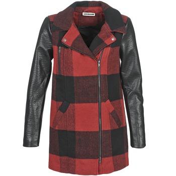 Odjeća Žene  Kaputi Noisy May TEXAS Red / Crna