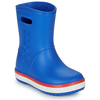 Obuća Djeca Gumene čizme Crocs Crocband Rain Boot K Blue / Red