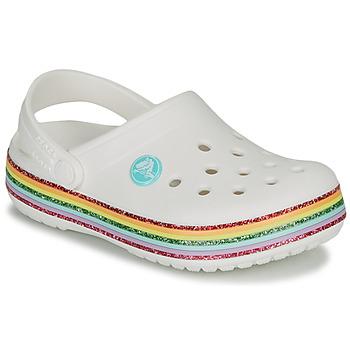 Obuća Djevojčica Klompe Crocs CROCBAND RAINBOW GLITTER CLG Bijela