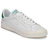 Obuća Žene  Niske tenisice Diadora MELODY LEATHER DIRTY Bijela / Zelena