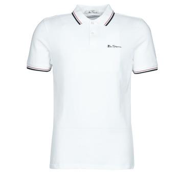 Odjeća Muškarci  Polo majice kratkih rukava Ben Sherman SIGNATURE POLO Bijela / Crna