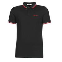 Odjeća Muškarci  Polo majice kratkih rukava Ben Sherman SIGNATURE POLO Crna / Red / Bijela