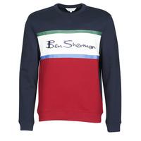 Odjeća Muškarci  Sportske majice Ben Sherman COLOUR BLOCKED LOGO SWEAT Red