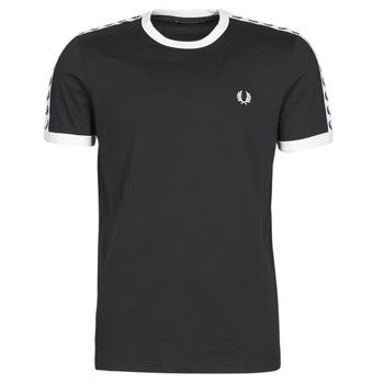 Odjeća Muškarci  Majice kratkih rukava Fred Perry TAPED RINGER T-SHIRT Crna