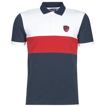 Odjeća Muškarci  Polo majice kratkih rukava Emporio Armani EA7 SEA WORLD ST TROPEZ Bijela / Red