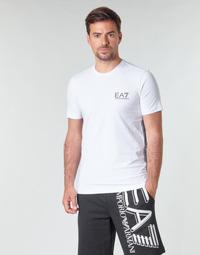 Odjeća Muškarci  Majice kratkih rukava Emporio Armani EA7 TRAIN LOGO SERIES M TAPE TEE ST Bijela