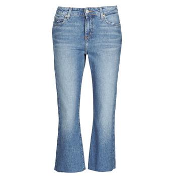 Odjeća Žene  Traperice ravnog kroja Tommy Jeans KATIE CROP FLARE Blue