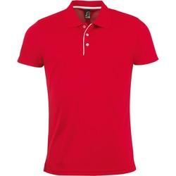 Odjeća Muškarci  Polo majice kratkih rukava Sols PERFORMER MEN SPORT Rojo