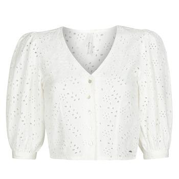 Odjeća Žene  Topovi i bluze Pepe jeans CLAUDIE Bijela