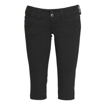 Odjeća Žene  Hlače 3/4 i 7/8 Pepe jeans VENUS CROP Crna